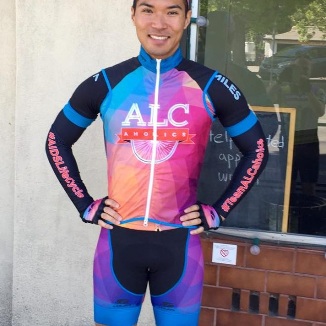 2015 ALCaholics Team Captain sporting the full bike kit (FRONT)