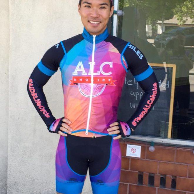 2015 ALCaholics Team Captain sporting the full bike kit (FRONT)