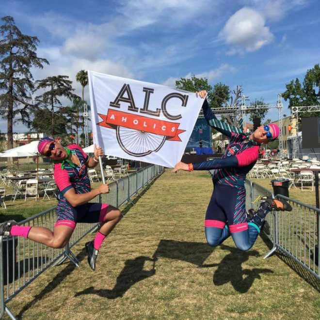 2017 ALCaholics crossing the finish line